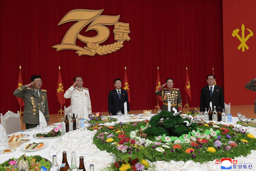 Celebration banquet was held on the occasion of the 75th founding anniversary of the Workers' Party of Korea